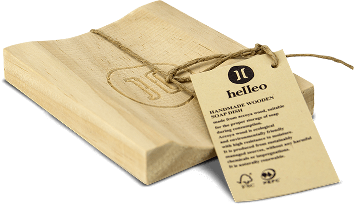 Wooden soap dish - Helleo